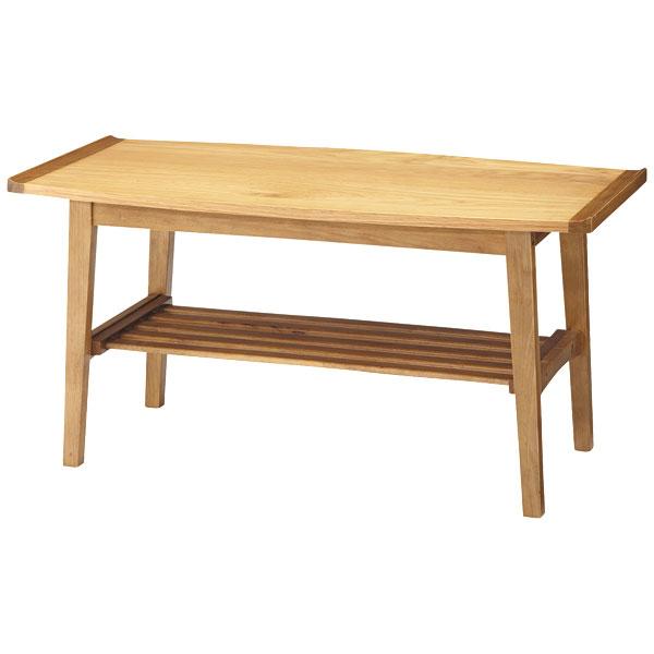 100 リビングテーブル【Trim トリム TEN-616】テーブル 100cm幅 天然木 オーク ラバーウッド シンプル【送料無料】