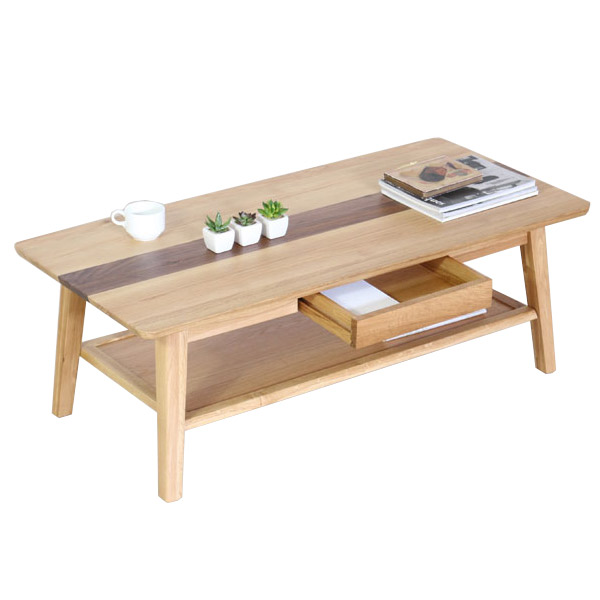 センターテーブル テーブル リビングテーブル ローテーブル 木製テーブル 長方形 無垢材使用 高級感 ウォールナット 全店販売中 115サイズ ホワイトオーク 115テーブル おしゃれ 引出し収納付き table 爆買い新作 ルック ミッドセンチュリー調