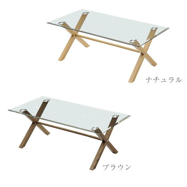 センターテーブル 【コーク2 110センターテーブル】 幅110 選べる2色 ガラステーブル リビング 【送料無料】