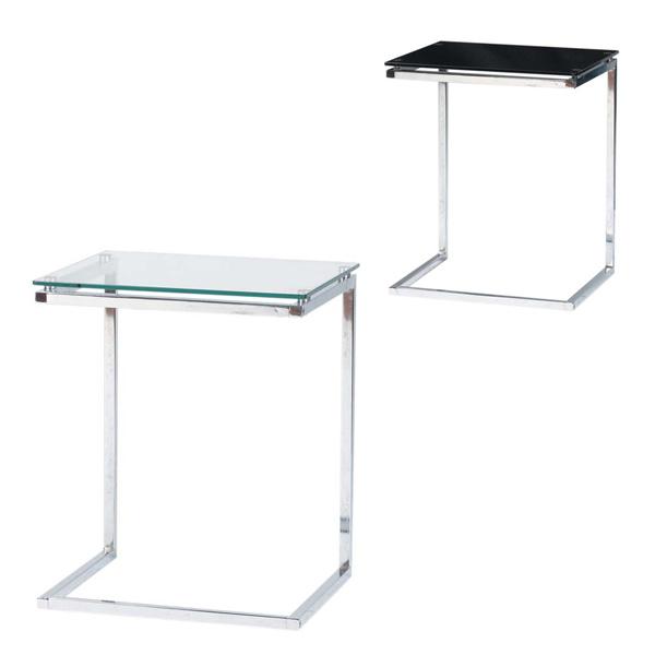 テーブル サイドテーブル【エリーヌ ERN-510】 スタイリッシュなデザインのテーブル【リビング/コーヒー/センター/ガラス/机】【送料無料】