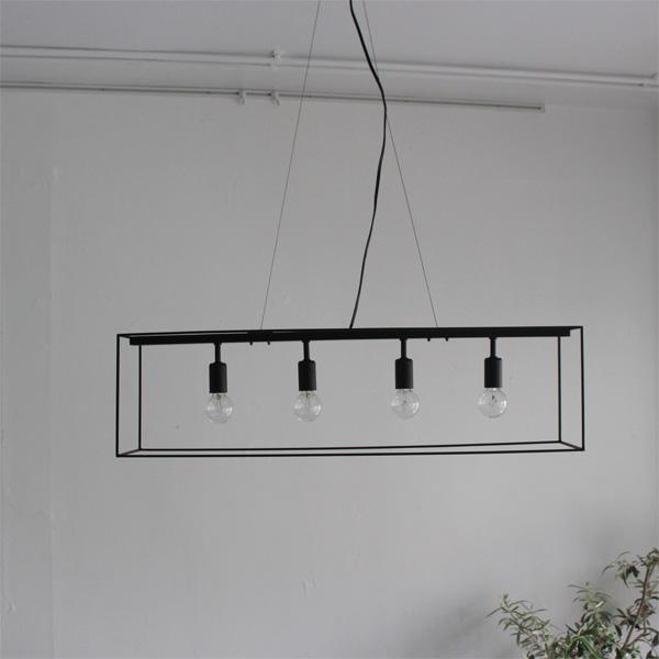 ペンダントランプ ライト ランプ【Scenario W シェナーリオ W LP3113BK】照明 家庭用照明 スチール製 モダン デザイン照明 白熱球