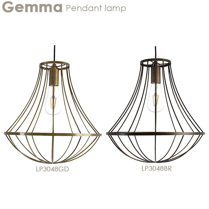 ペンダントランプ【Gemma ジェンマ】LP3048GD/LP3048BR 照明 ライト ランプ ダイニング リビング