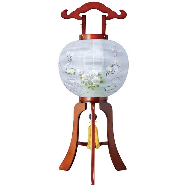 (家紋入れ込) 盆提灯 MG和合11号 お盆ちょうちん お盆用品 お盆用 電気コード式 新盆 初盆 提灯 絹張 天然木