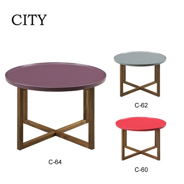 コーヒーテーブル ティーテーブル ローテーブル CITYシリーズ 【C-60/C-62/C-64 60ティーテーブル】 シティ/シンプルモダン/高級感/おしゃれ