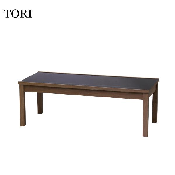 【トーリ】リビングテーブル 110 (CHERRY/WALNUT/MAPLE) 強化ガラス シンプル おしゃれ