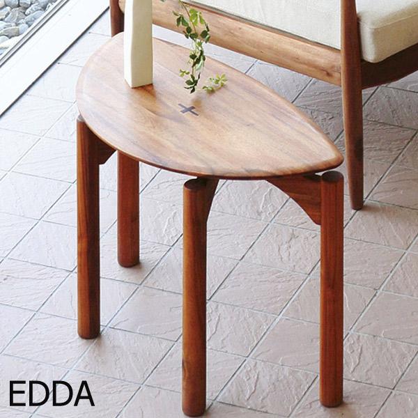 サイドテーブル ソファーテーブル ミニテーブル 木製 小物置き EDDA 【ST30104F-EL000 サイドテーブル】 チーク/アカシア/高級感/エッダシリーズ
