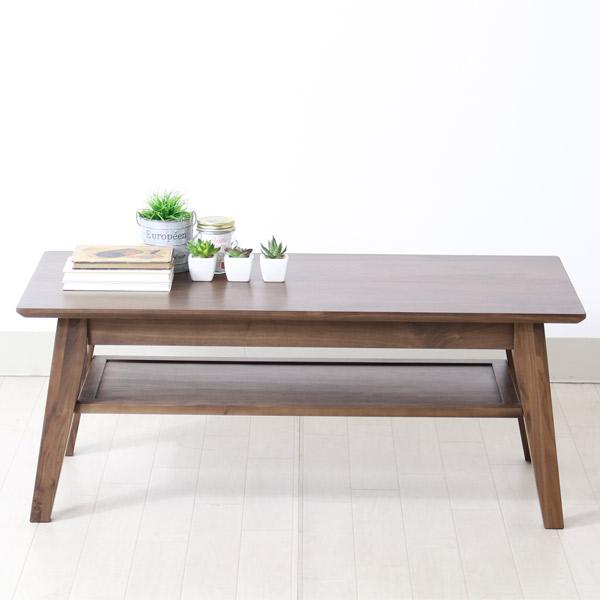 センターテーブル ウォールナット リビングテーブル おしゃれ 木製 無垢材使用 モダン ローテーブル テーブル 高級感 table ミッドセンチュリー調 ブルック 100センターテーブル