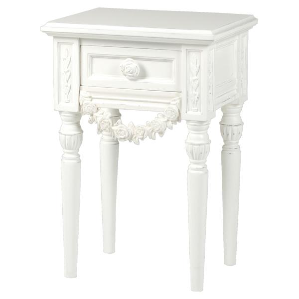 ナイトテーブル 引出し付 収納家具 おしゃれ ナイトチェスト (ベッドサイドチェスト/VNM-0154)