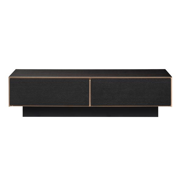 【ALBA】 アルバ リビングテーブル ALBD-121 UBK ミニマルデザイン おしゃれ ブラック&ナチュラル