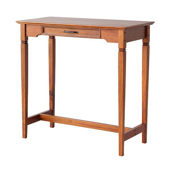 木製テーブル ソウ 木製 【SOT-3320BR】 パソコンデスク アンティーク カウンターテーブル 作業机 引き出し 飾り台 SOU