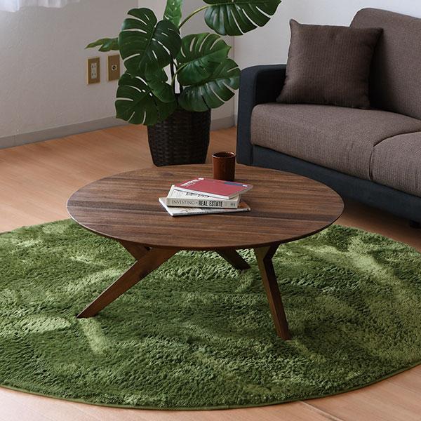 円卓 丸テーブル ちゃぶ台 リビングテーブル 座卓 うづくり加工 折りたたみ グロス (GROSS 90cm幅 ローテーブル 木製 90丸センターテーブル)
