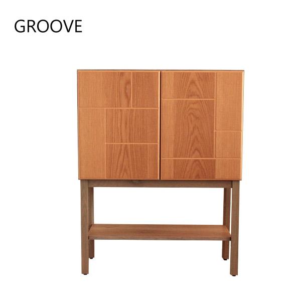 キャビネット 木製 リビング収納 GROOVE グルーヴ 90キャビネット ナチュラルシリーズ 北欧テイスト おしゃれ