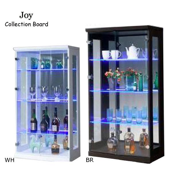 ジョイ 70コレクションボード(L)【送料無料】WH/BR コレクション LEDライト付 収納