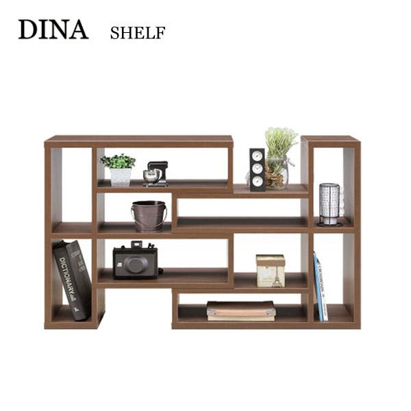 リビングシェルフ【Dina ダイナ】90Lスライドシェルフ (ブラウン/ナチュラル) 収納/インテリア/小物置/本棚/リビングボード/棚/コレクションボード/組み換え可能/シンプル/おしゃれ家具