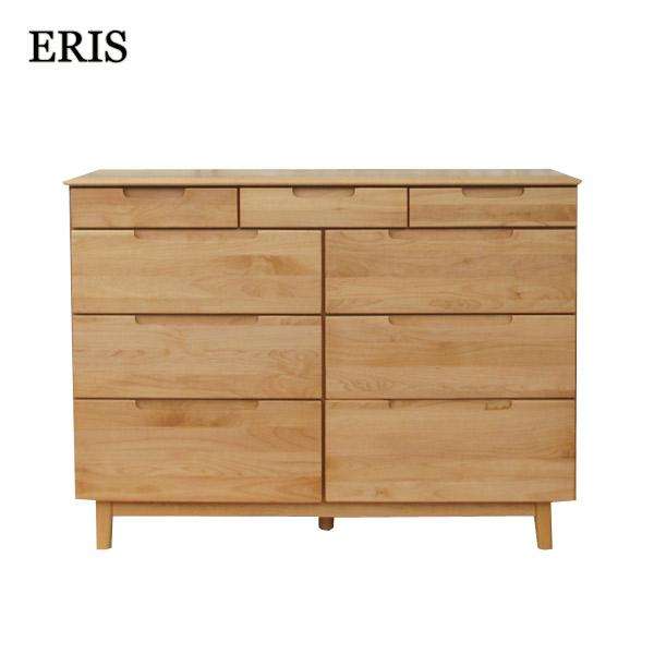 【エリス】120 LC-4 チェスト 衣類収納 北欧 シンプル 収納棚 棚 リビング アルダー無垢材 収納 木製