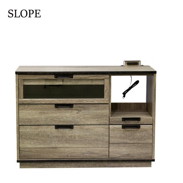 【スロープ】120 カウンター (OLD-M) MDF ヴィンテージ シンプル 木製 ナチュラル おしゃれ 天然木