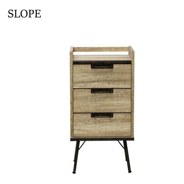 【スロープ】チェスト46-3 (OLD-M) MDF ヴィンテージ シンプル 木製 ナチュラル おしゃれ 天然木