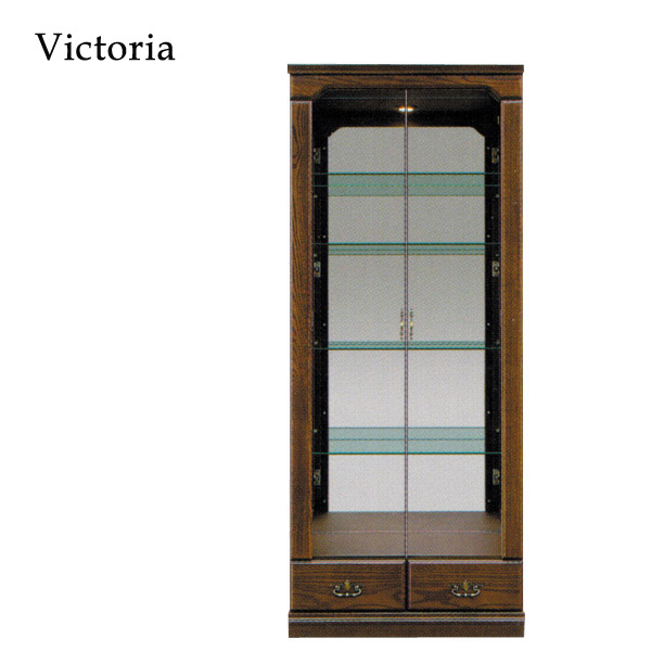 コレクションボード キャビネット リビングボード ガラス扉 【Victoria ビクトリア Collection Board 80コレクション】