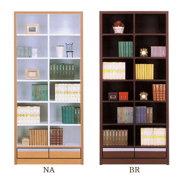 本棚 【ノア 83オープン書棚】幅83cm 選べる2色 木製 【送料無料】