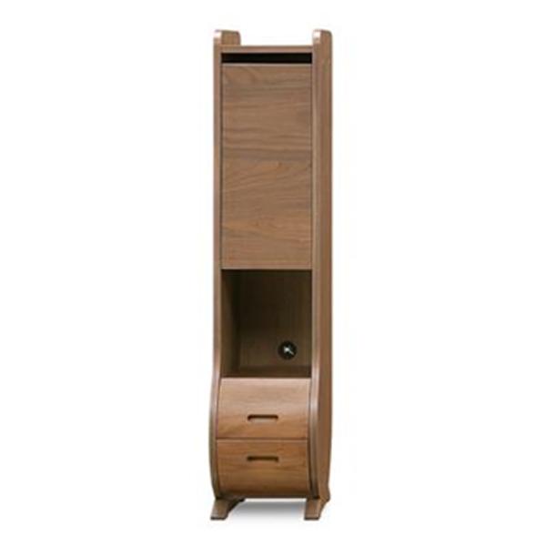 キャビネット 木製 ウォールナット 収納家具 棚 収納棚 モダン リビング (ルラード 30ハイキャビネット ウォールナット)