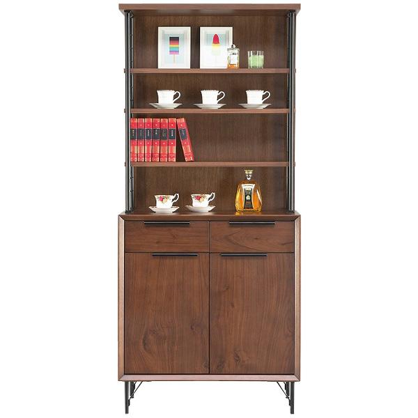 【オアシス オアシスBウオールナット フリーラック】 本棚 フリーボード マガジンラック 書棚 飾り棚