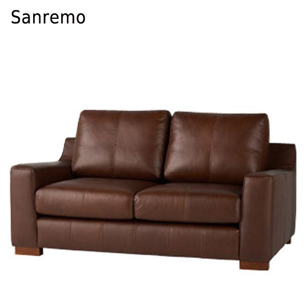 ソファ【Sanremo サンレモ ソファ2P】牛皮総革張 BR/CM【送料無料】