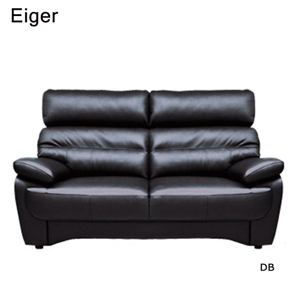 ソファ【Eiger アイガー ソファ2P】牛皮革張 CM/DB【送料無料】