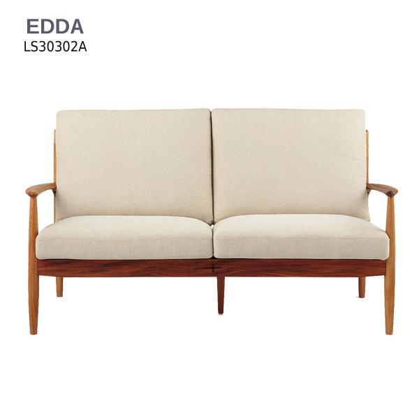 2Pソファー EDDA 【LS30302A-EL0 2Pソファー】 基本色E2(ベージュ) 受注生産色E1/E3/E4 【送料無料】