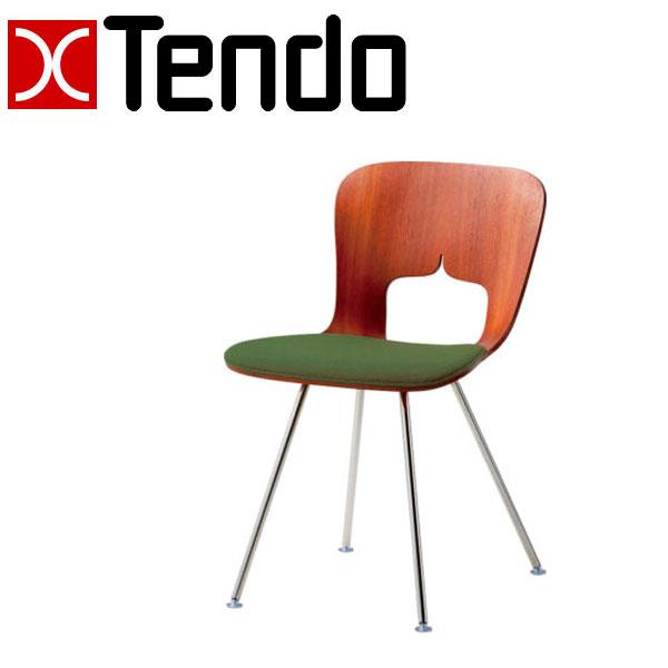 ポイントアップ&お得な限定クーポン配布中!~8/9 01:59迄 天童木工 チェア T-3036SP-ST 張り生地グレードA 椅子 パイプ いす