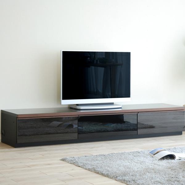テレビ台 おしゃれ ローボード テレビボード 北欧 収納家具 モリタインテリア melena メレーナ 210L ブラック