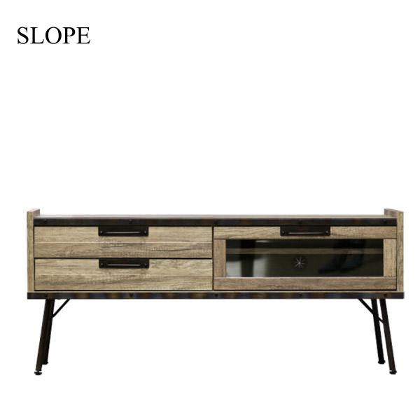 【スロープ】TV120 (OLD-M) TVボード MDF ヴィンテージ シンプル 木製 ナチュラル おしゃれ 天然木
