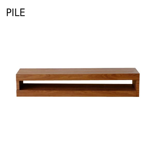 【パイル】TVボード 160 (WALNUT) テレビボード ウォルナット シンプル おしゃれ