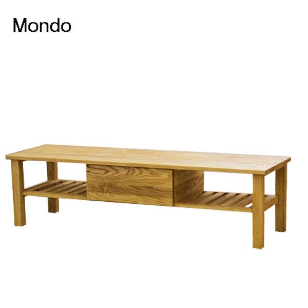 TVボード【Mondo モンド TVボード】タモ無垢材 幅150