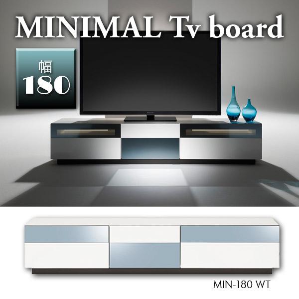 TVボード テレビ台 TV台 AVボード 【MINIMAL テレビボード MIN-180 WT【送料無料】