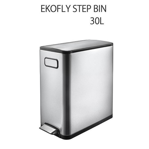 ごみ箱 ダストボックス 30L ゴミ箱 ステンレス おしゃれ 直営ストア 激安特価品 エコフライ キッチン収納 足で踏むだけ簡単開閉 30リットル ステップビン EK9377MT-30L