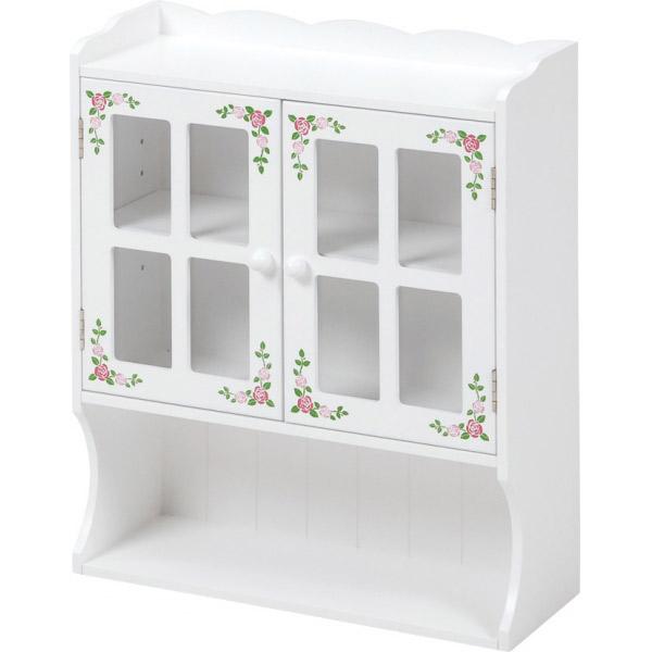 カウンター上ガラスケース 調味料ラック MUD-7130WH カントリー風 おしゃれ 期間限定特別価格 ファクトリーアウトレット 調味料入れケース ダイニング収納 カウンター収納 カフェ収納 カウンターケース キッチン収納
