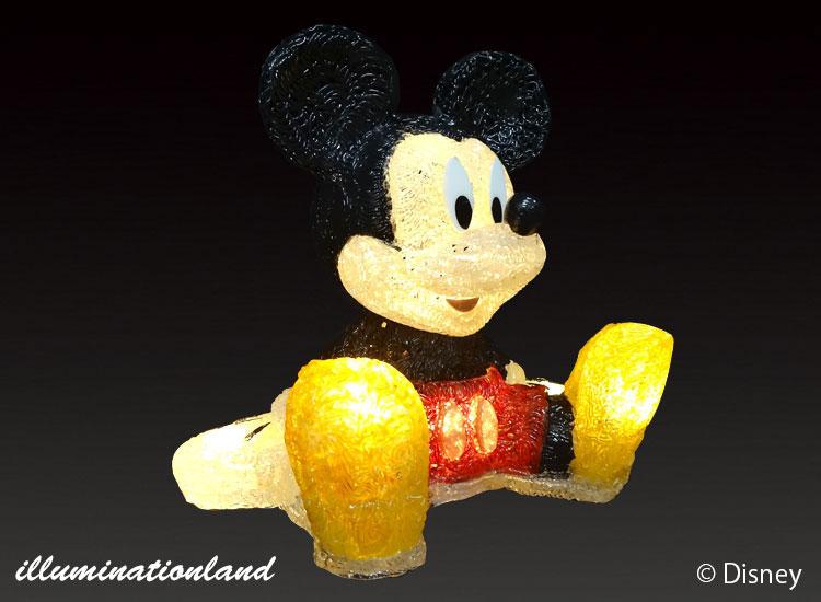 ミッキーマウス LEDクリスタルグロー【イルミネーション ライト 飾り デコレーション 電飾 オブジェ アンティーク おしゃれ かわいい グッズ LED ディスプレイ】