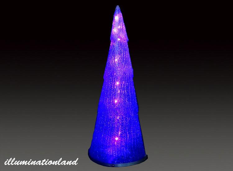 コーン パープル 小 LEDクリスタルグロー【イルミネーション ライト 飾り デコレーション 電飾 オブジェ アンティーク おしゃれ かわいい グッズ LED ディスプレイ】