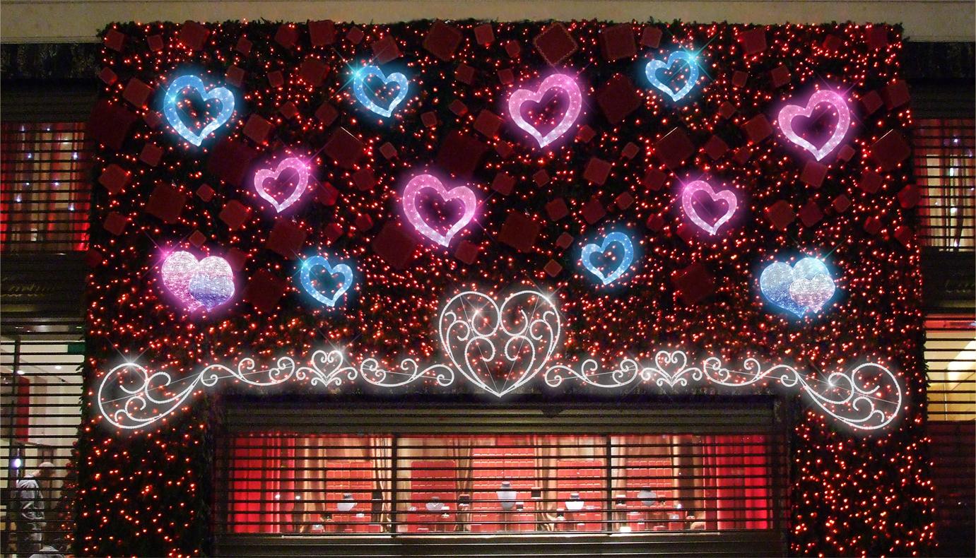 ツインハートLEDクリスタルグロー【イルミネーション ライト 飾り デコレーション 電飾 オブジェ アンティーク おしゃれ かわいい】グッズ LED ディスプレイ