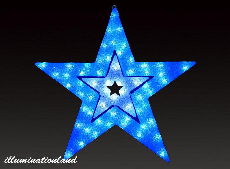 スター ブルーホワイト LEDクリスタルグロー【イルミネーション ライト 飾り デコレーション 電飾 オブジェ アンティーク おしゃれ かわいい】グッズ LED ディスプレイ