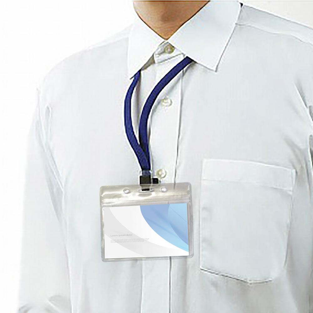 祝日 ネームホルダー ネックストラップ 名札 名札ケース idカードホルダー 名札ホルダー 名札入れ リール ケース アウトレット 名刺入れ 防水 ネック ID 名刺 カード ストラップ あす楽 送料無料 防水ケース 首掛け
