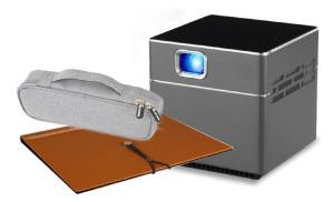 【送料無料】 【次回の買い物で使える!5%OFFクーポン配付中(5000円以上)】【セット品】モバイルプロジェクター 小型【Android搭載】 Pico Cube ピコキューブ A エース+ポーチ+バインダースクリーン