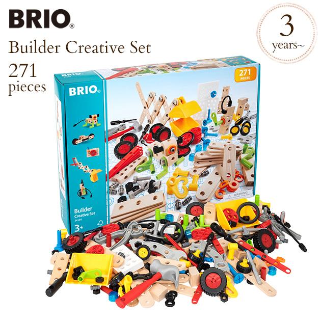 BRIOはスウェーデン御用達 木のおもちゃ ブランド 知育玩具 木製 BRIO ブリオ ビルダー クリエイティブセット ファクトリーアウトレット 34589 construction kit 木製玩具 ブロック 工作 wood 送料無料 組立キット お買い得 コンストラクションキット おうち時間 ウッドトイ toy