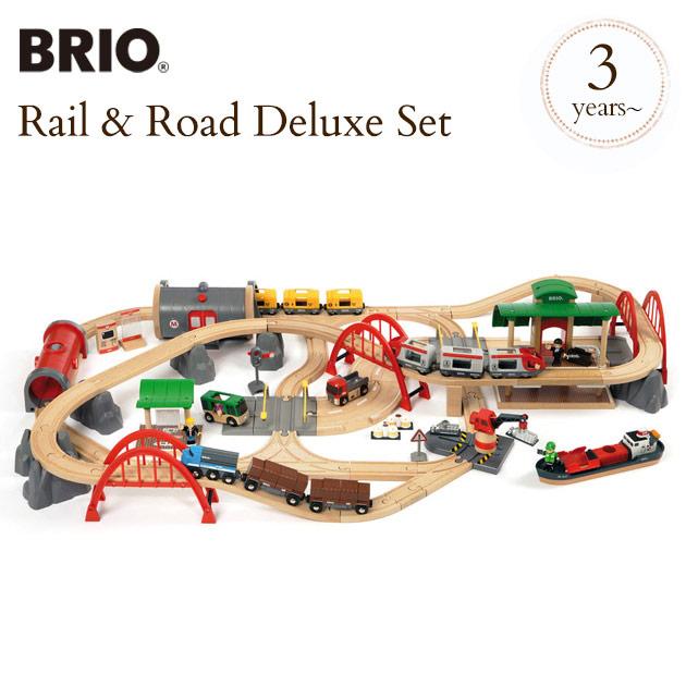 BRIO WORLD(ブリオ) レール&ロードデラックスセット 33052 BRIO railway toy wood toy