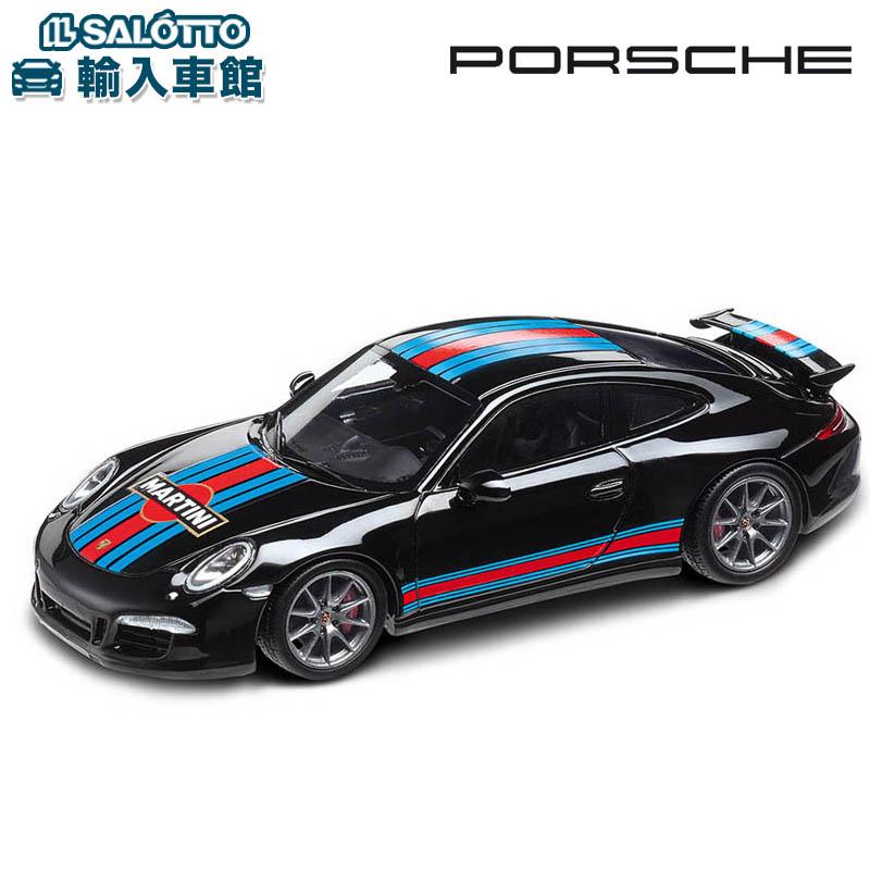 【 ポルシェ 純正 クーポン対象 】 モデルカー 911 カレラS ブラック エアロキットカップ マルティーニ・レーシング スケール 1:43 CARRERA MARTINIMinichamps社又はSPARK社製 ミニカー トイカー Porsche Design