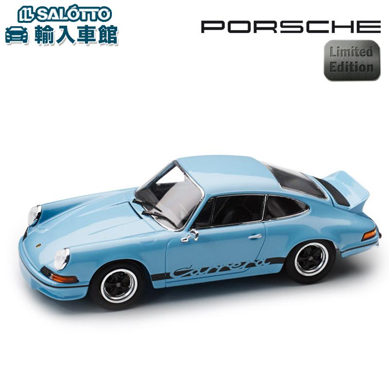 【 ポルシェ 純正 】 モデルカー 911 カレラ RS2.7 73RS 世界限定販売1973個 ゴルフブルー スケール 1:43 CARRERAMinichamps社又はSPARK社製 ミニカー トイカー Porsche Design