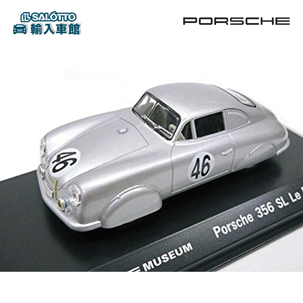 【 ポルシェ 純正 クーポン対象 】 モデルカー 356 SL 1951年 ルマン クラス優勝モデル シルバー スケール 1:43 ドイツ ポルシェ ミュージアム 専売モデルWelly 社製 ミニカー トイカー Porsche Design