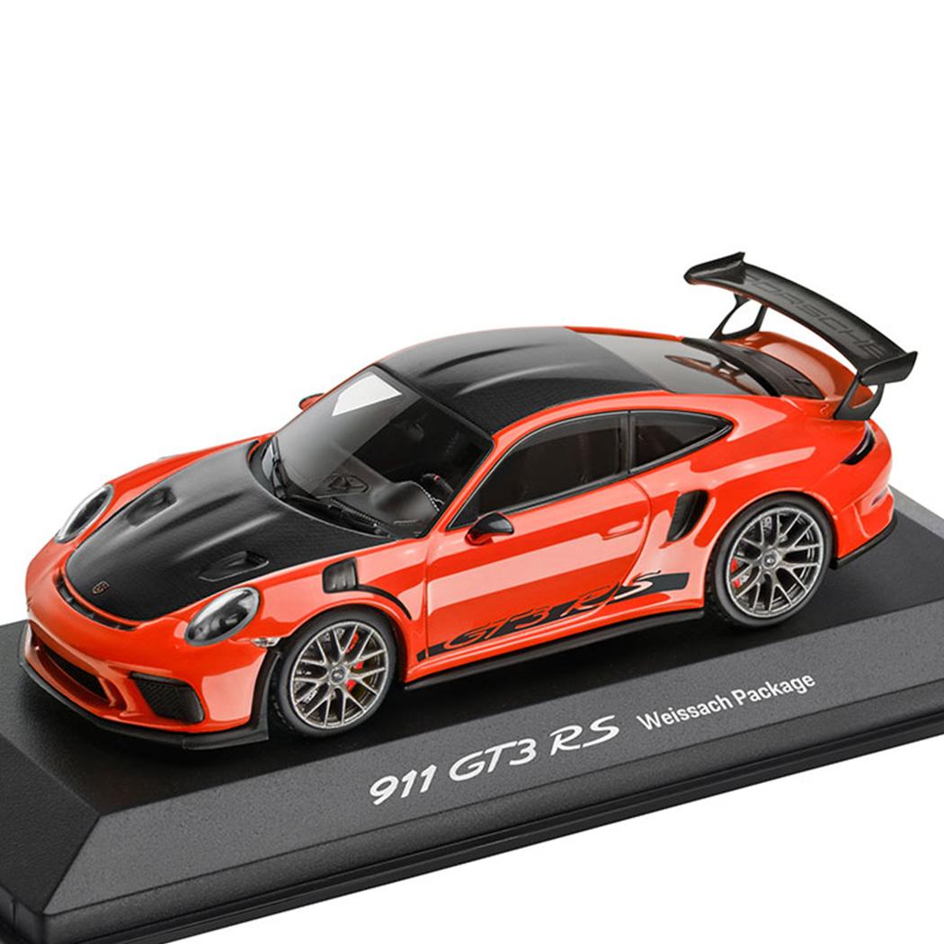 【 ポルシェ 純正 クーポン対象 】 モデルカー 911 GT3 RS 991II カラー:ラバオレンジ スケール 1:43 ヴァイザッハ パッケージ Minichamps社製 ラーバオレンジ ミニカー トイカー Porsche Design