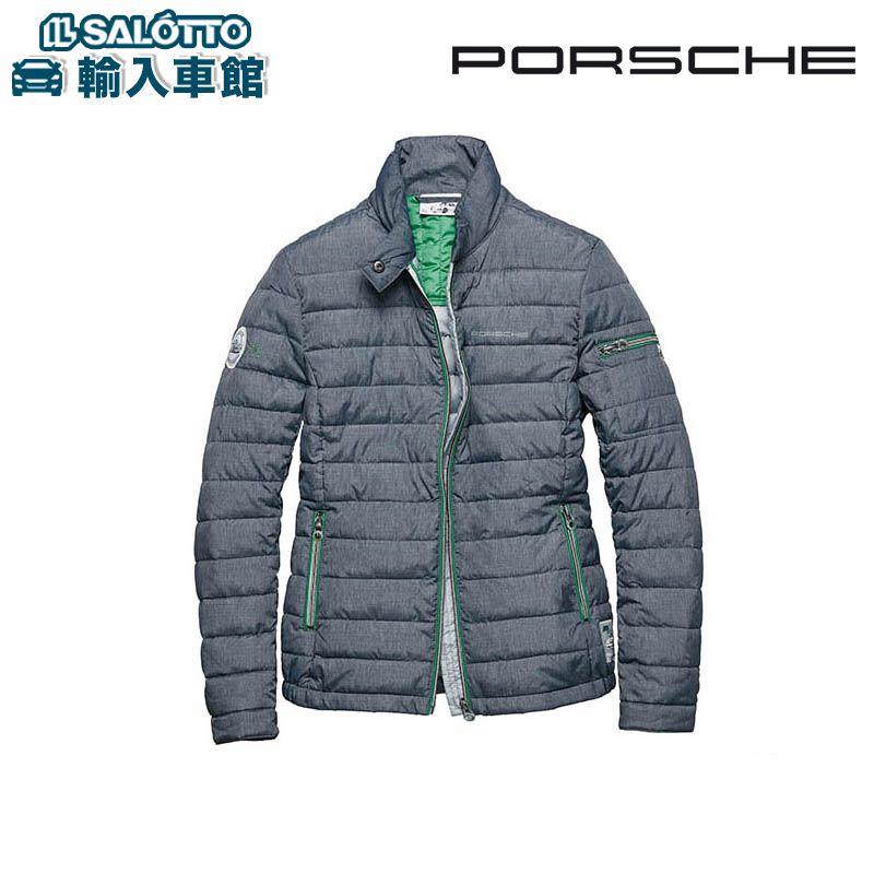 【 ポルシェ 純正 クーポン対象 】 レディース ジャケット RS 2.7 Sサイズ グレー バイパーグリーン 軽量 キルティングジャケット