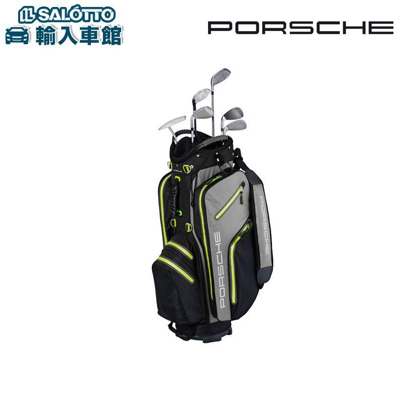 【 ポルシェ 純正 クーポン対象 】 キャディバッグ ゴルフカートバッグ超軽量、撥水性のナイロン製ブラック/グレー/アシッドグリーン